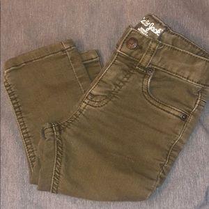 Olive green toddler jeans